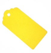 10 Large Yellow Gift Tags / Hang Tags / Wedding Tags 90mm x 44mm