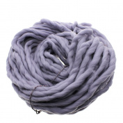 MMRM Super Chunky Yarn Soft Wool Roving Bulky Yarn Spinning Hand Knitting - 260G - Grey
