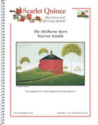 Scarlet Quince KIM010 The Shelburne Barn by Warren Kimble Counted Cross Stitch Chart, Regular Size Symbols