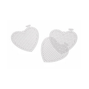 Heart-Shaped Plastic Canvas - 7.6cm