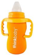 thinkbaby Limestone Thermal Bottle Sleeve, Orange