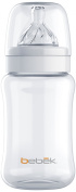 Bebek Classic Bottle with Senseflo Silicone Nipple, Clear, 270ml