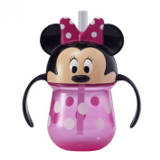 TOMY The First Years Minnie 210ml . Trainer Straw Cup with Handles
