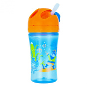 NUK Gerber Graduates Advance Easy Straw Cup with Seal Zone Technology, Girl Colours, 300ml