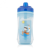 Dr. Brown's Hard-Spout Insulated Cup, Blue Sailboat, 300ml