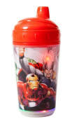 Marvel Avengers Double Wall Led Light Up Sip Cup, Red