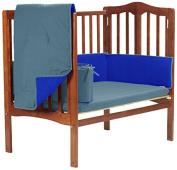 Baby Doll Reversible Port-a-Crib Bedding, lndigo Blue/Royal Blue