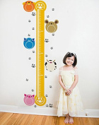 Pop Decors PT-0091-Vb Beautiful Wall Decal, Cute Growth Chart and Photo