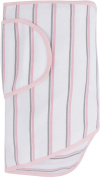 Miracle Blanket Swaddle, Pink and Grey Stripes