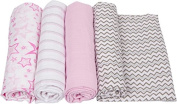 MiracleWare 2540 Pink Muslin Swaddle, 4 Pack
