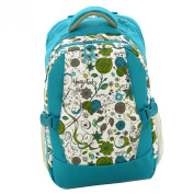 Aivtalk Women Multi-function Large Capactiy Waterproof Mummy Travel Backpack with Stroller Hooks Blue Printing Dot