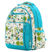 Aivtalk Women Multi-function Waterproof Large Mummy Travel Backpack Nappy Nappy Bag Shoulder Bag Blue Printing