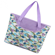 Aivtalk Multifunctional Large Capacity Tote Nappy Shoulder Bag for Women Purple Tulip