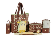 SOHO Gavin the Giraffe 10 pcs Deluxe Nappy Bag. Brown)