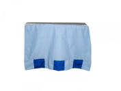 Baby Doll Patchwork Perfection Nappy Stacker, Royal Blue/Light Blue