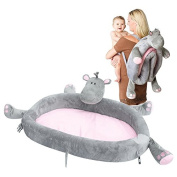 LulyZoo On The Go Toddler Lounger - Hippo