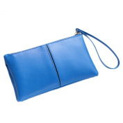 Sanwood® Womens Girls Double Layers Handbag Faux Leather Wallet Phone Holder Clutch Change Bag