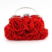 Kingluck Silk Shell with Flower Evening Handbags/ Clutches/ Top Handle Bags More Colours Available
