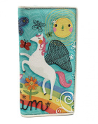 Light Blue and Rainbow Themed Long Wallet With Winged Horse