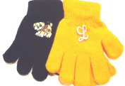 Set of Two Pairs Magic Gloves for Infants Toddlers Ages 1-4 Years One Monogram