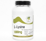 L-Lysine 1000mg ~ 100 Capsules - No Additives ~ Naturetition Supplements