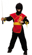 Red ninja costume for boys - 10 to 12 years