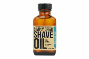 SHAVE OIL Simply Great Beard Oil Easy Applicator Natural Vegan Cruelty-Free Care for Beards