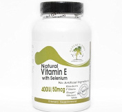 Natural Vitamin E 400IU with Selenium 50mcg ~ 100 Capsules - No Additives ~ Naturetition Supplements