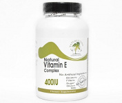 Natural Vitamin E Complex 400IU Non-Oily ~ 200 Capsules - No Additives ~ Naturetition Supplements