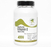 Natural Vitamin E Non-Oily 400IU ~ 100 Capsules - No Additives ~ Naturetition Supplements