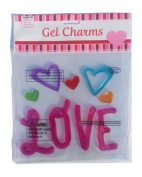 Love and Hearts Valentine Gel Window and Mirror Clings