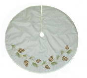 Jaclyn Smith Christmas Tidings Deluxe 120cm Pinecone Tree Skirt