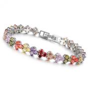 Jade Angel . Elements Multicoloured Cubic Zirconia Bracelet for Women Wedding Jewellery