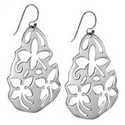 Sterling Silver Cut Out Flower Earrings