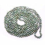 Jade Angel Green 7-8mm Freshwater Cultured Potato Shape Pearls Necklace 250cm