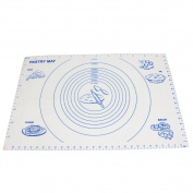 "Pastry Mat, YYP Large Silicone Pastry Mat with Measurements, 23.5""x15.7""(60x40cm), Non-Slip Sheet, Full Sticks to Countertop For Rolling Dough"