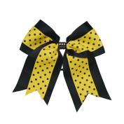 Sports Novelties Hair Bow Ties, Black/Gold