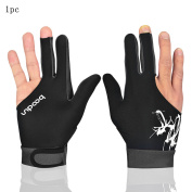 Man Woman Elastic Lycra 3 Fingers Gloves for Billiard Shooters Carom Pool Snooker Cue Sport - Wear on the Right or Left Hand