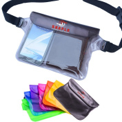 Shaplo (TM) Sh031 100% Waterproof Pouch with Waist Strap, X-Large Dry Bag to Safely Protect Your Phone, Keys, Money and Valuables From Dust, Water, and Thieves While Boating, Water Park, or Seaworld