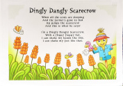 Dingly Dangly Scarecrow Cotton Tea Towel
