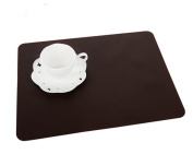 Set of 2 Lovely Food grade Silica Gel Place Mats Kids's Placemats,COFFEE