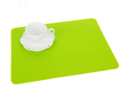 Set of 2 Lovely Food grade Silica Gel Place Mats Kids's Placemats,GREEN