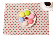 Set of 2 Lovely Cloth High-grade strawberry Place Mats Kitchenware,33*48cm
