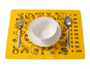 Lovely Animals Healthy Silica Gel Place Mat Kitchenware For Kids,30*40cm,YELLOW
