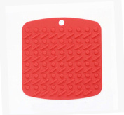 Set of 3 Lovely Place Mats Insulation Mats Durable And Convenient Mats,RED