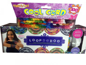 Loopdedoo Spinning Loom Kit Friendship Bracelet Maker and Janlynn Cool Cord 100 Skein Friendship Party Pack Bundle