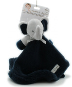 Blankets and Beyond Grey & Navy Blue Elephant Baby Security Blanket Plush