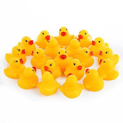 Keyzone Novelty 12Pcs/set Rubber Small Yellow Duck Ducky Duckie Baby Shower Toys Birthday Best Beautiful