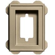 Builders Edge 130130002013 Recessed Mini Mounting Block 013, Light Almond