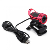 Welcomeuni Webcam for Computer ,USB 12 Megapixel HD Camera Webcam 360° MIC Clip-on for Laptop PC